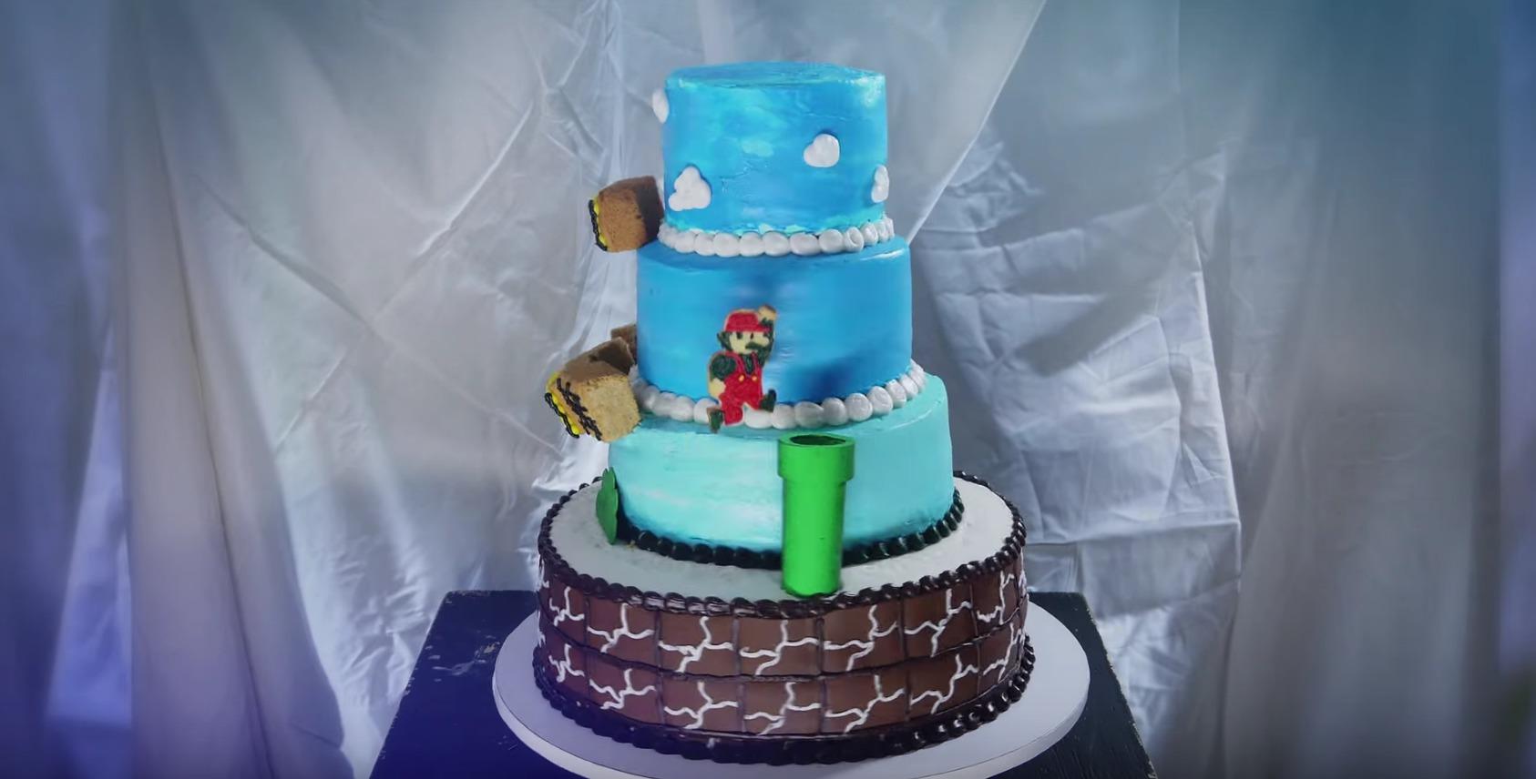 Picture of Super Mario Bros Animated Cake