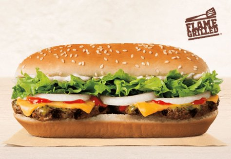 Picture of Burger King Extra Long Buttery Cheeseburger