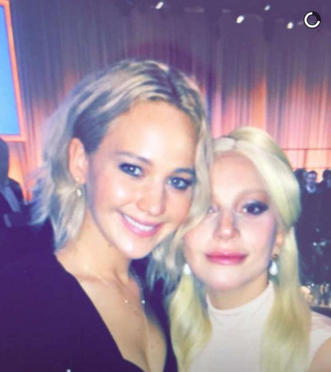 Picture of Lady Gaga and Jennifer Lawrence