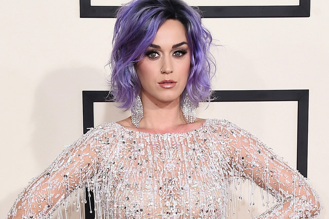 Picture of Katy Perry with Purple Hair
