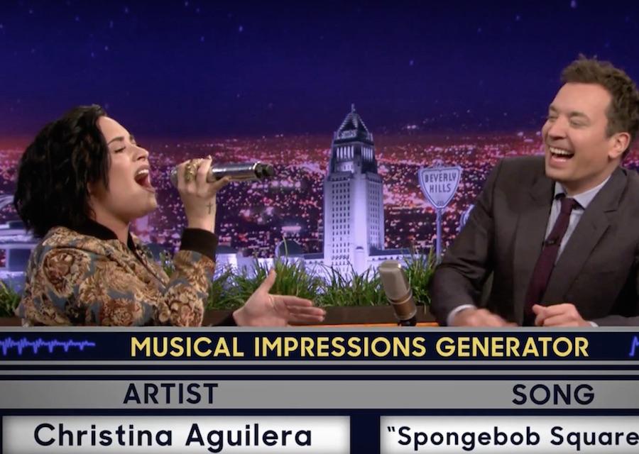 Demi Lovato Musical Impressions Tonight Show