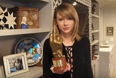Taylor Swift NME Middle Finger Award