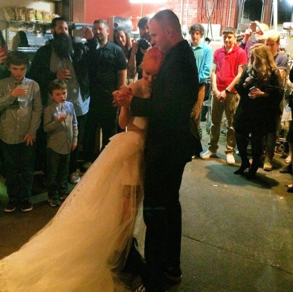Picture of Hayley Williams and Chad Gilbert Wedding