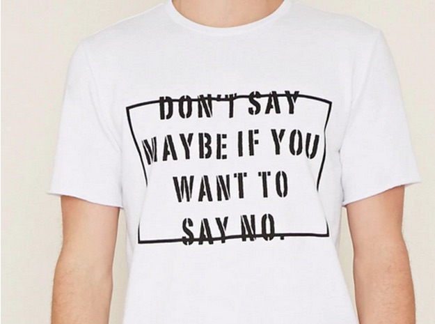 forever 21 don't say maybe tee