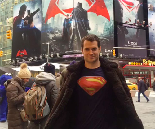 henry cavill times square
