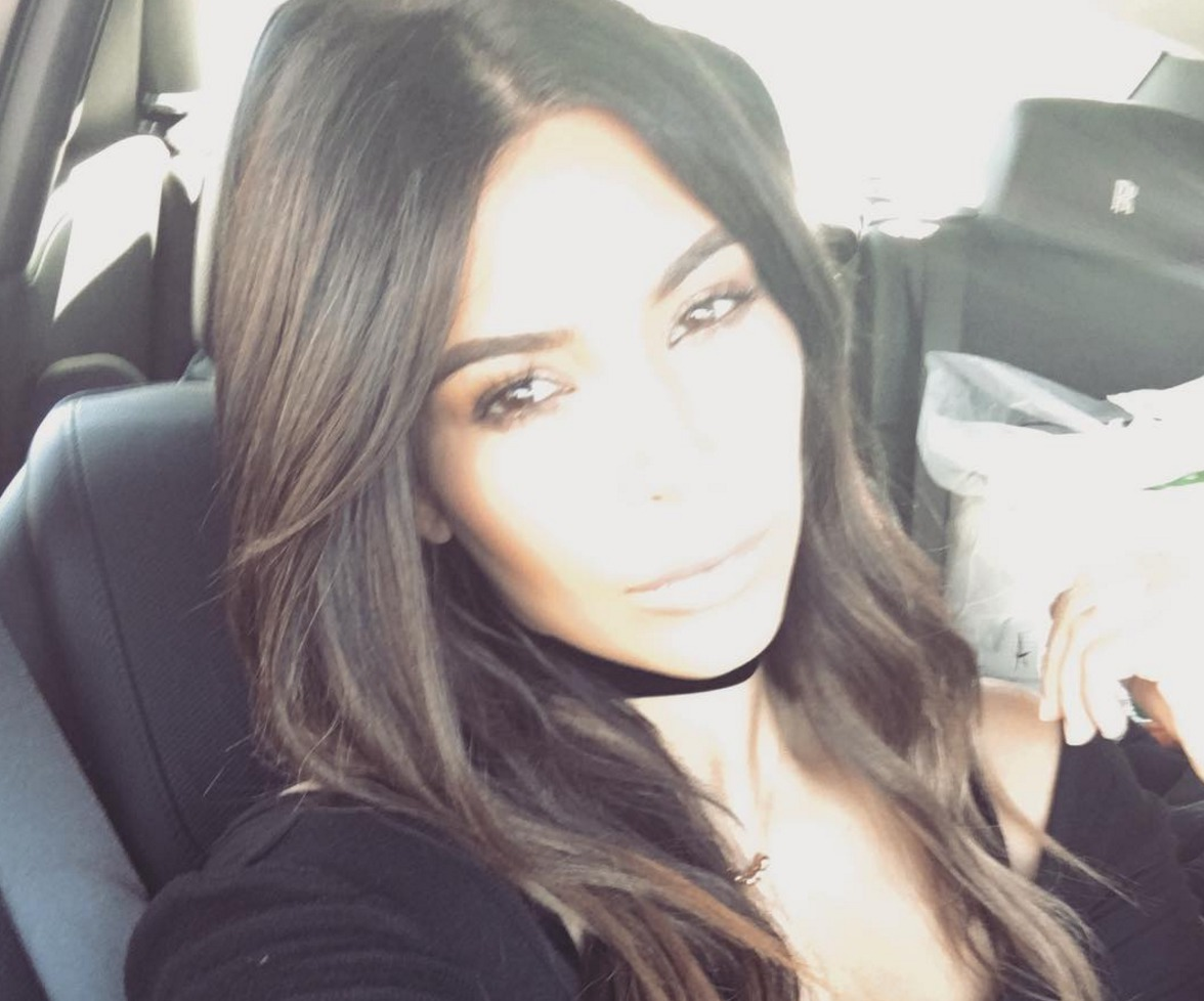 Picture of Kim Kardashian Ombre Hair