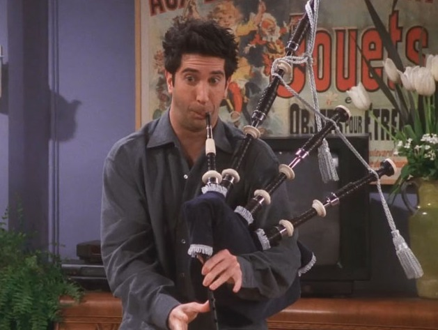 Picture of Ross Playing the Bagpipes