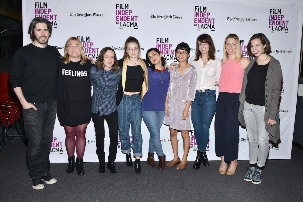 Jason Reitman, Sarah Thyre, Ellen Page, Kaitlyn Dever, Molly Ephraim, Charlyne Yi, Rosemarie DeWitt, Collette Wolfe and Kristen Schaal.