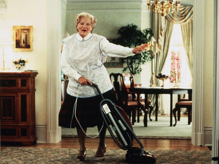 Picture of Mrs. Doubtfire Vacuuming