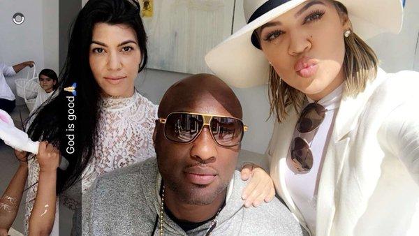 Picture of Lamar at Kardashian Easter