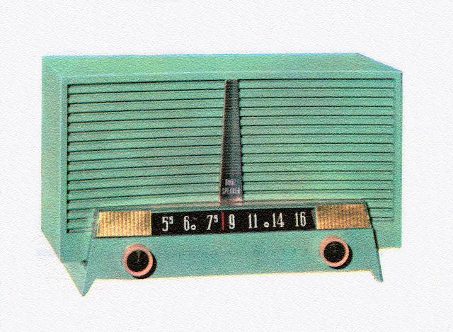 Vintage 1950s Portable Radio