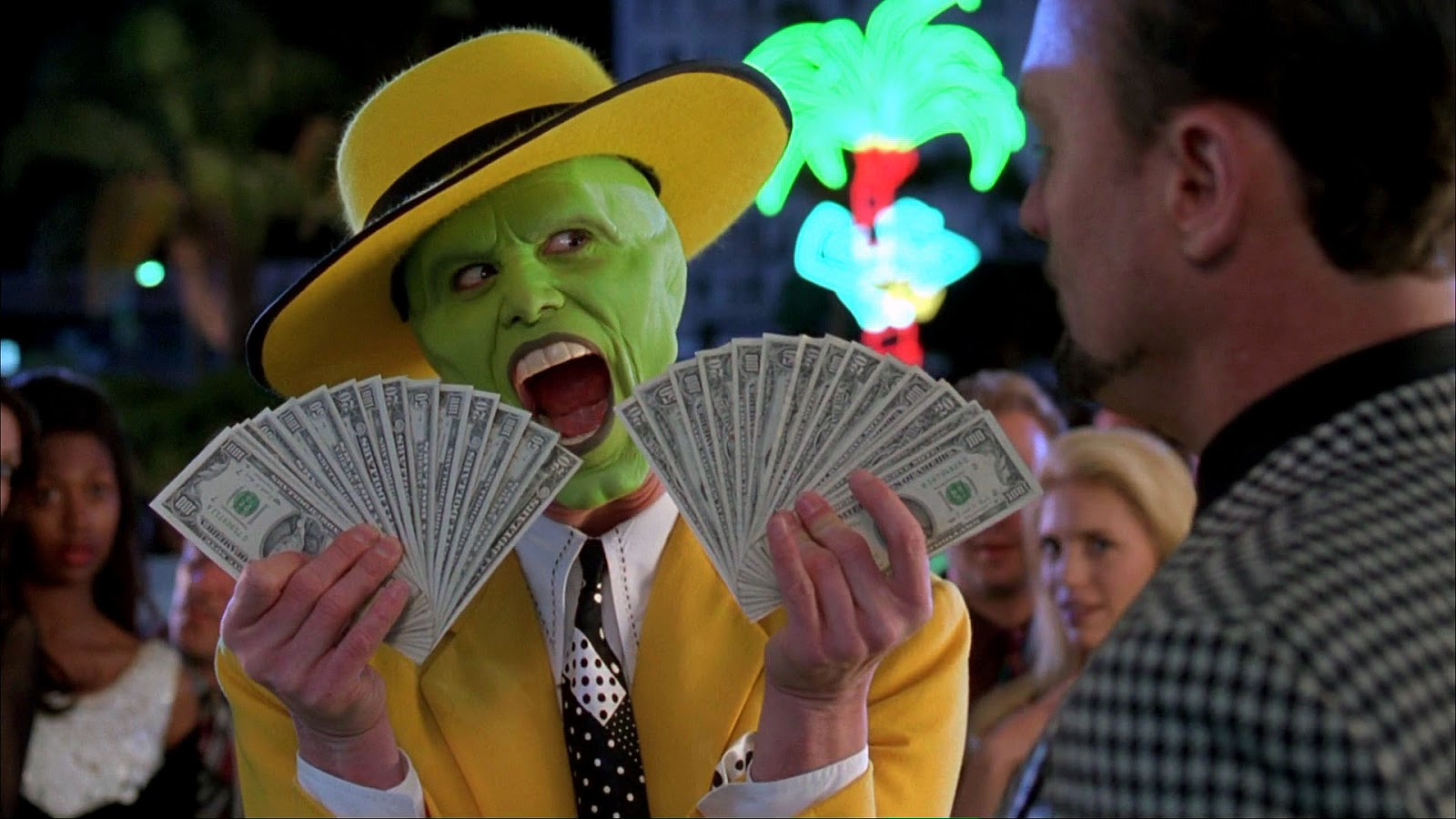 Picture of The Mask Holding Money