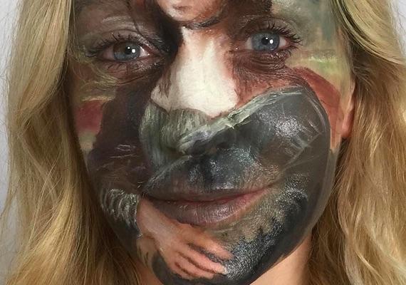 Mona Lisa face paint