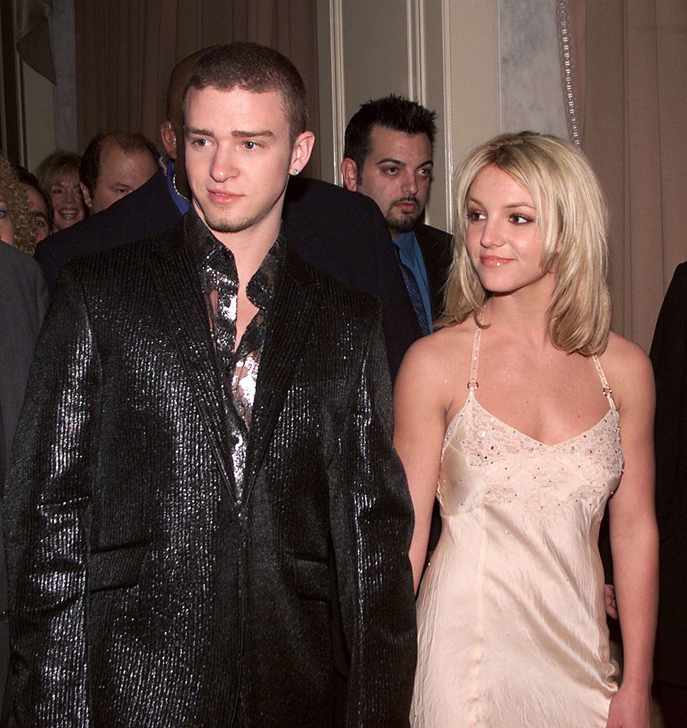 Justin Timberlake and Britney Spears at 'A Family Celebration 2001'  at the Regent Beverly Wilshire Hotel, Beverly Hills, Ca. 4/1/01.  Los Angeles. Photo by Kevin Winter/Getty Images.