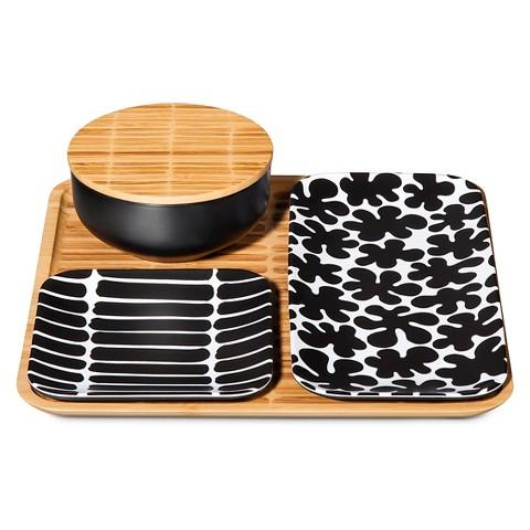 Marimekko for Target Bamboo Serving Set 4pc - Black $20.98