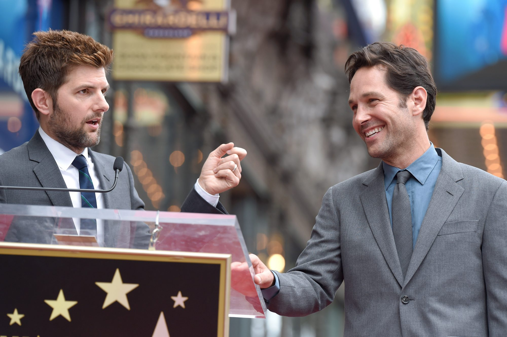 Paul Rudd Honored With Star On The Hollywood Walk Of Fame