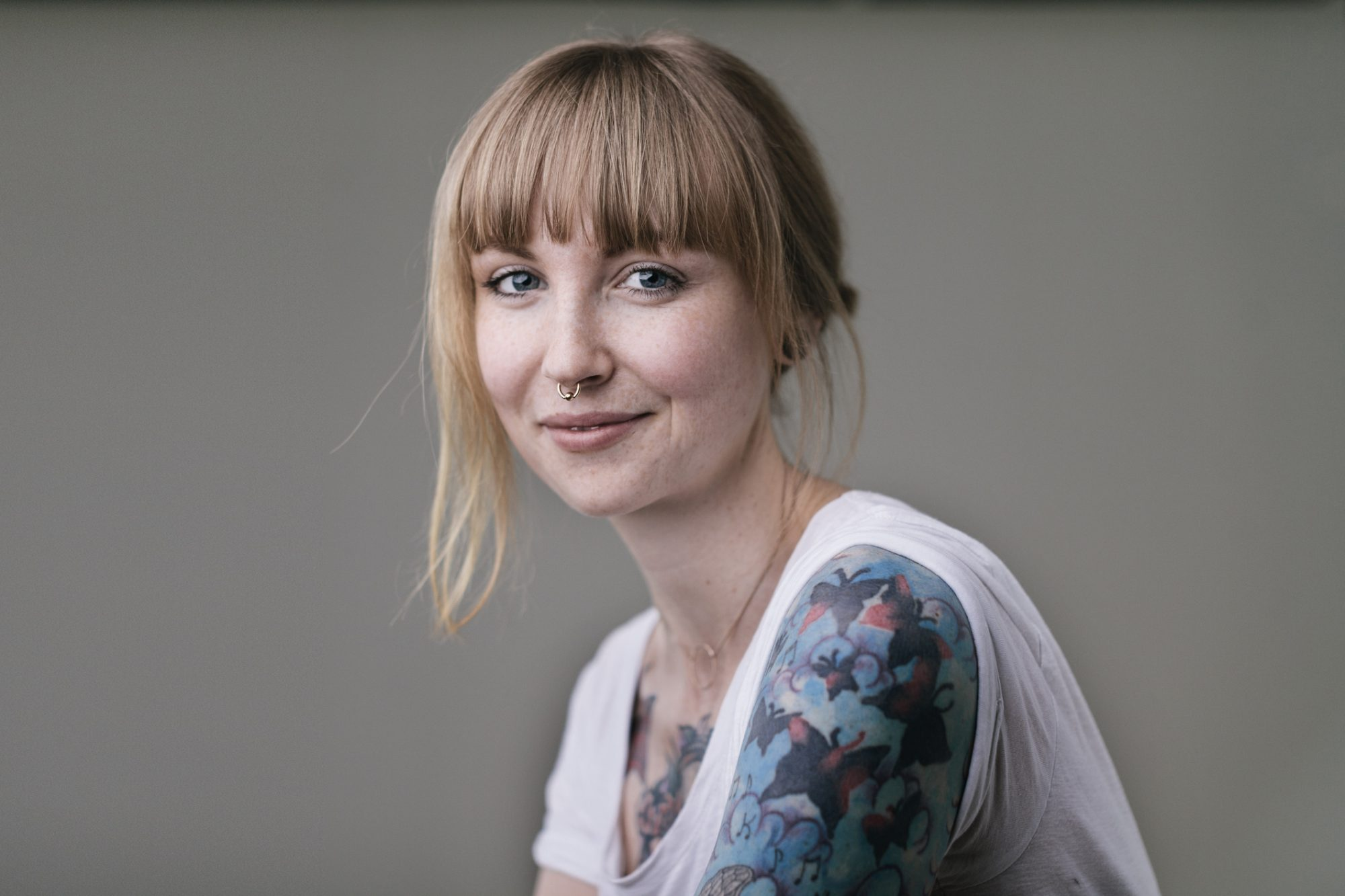 Tattooed Self-Confidence Woman