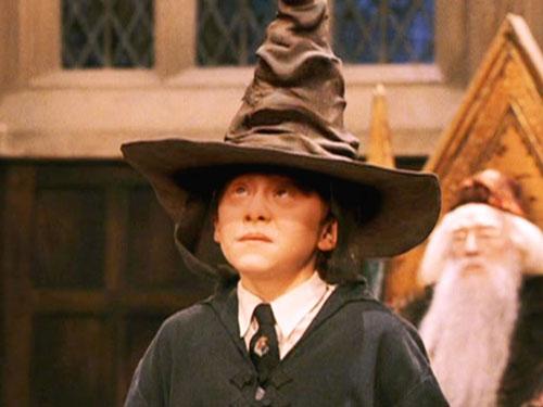 ron weasley sorting hat