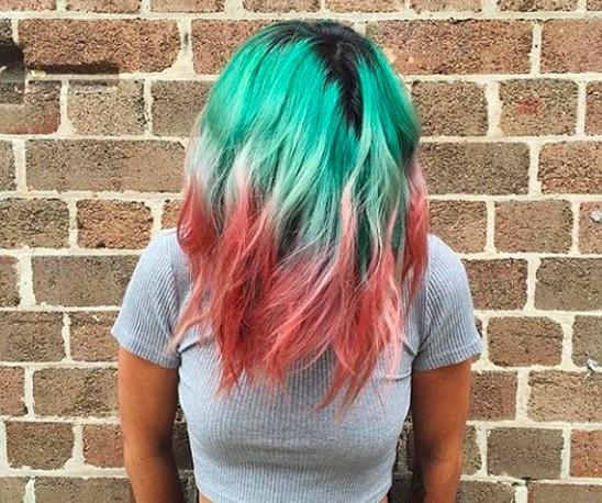 watermelon hair