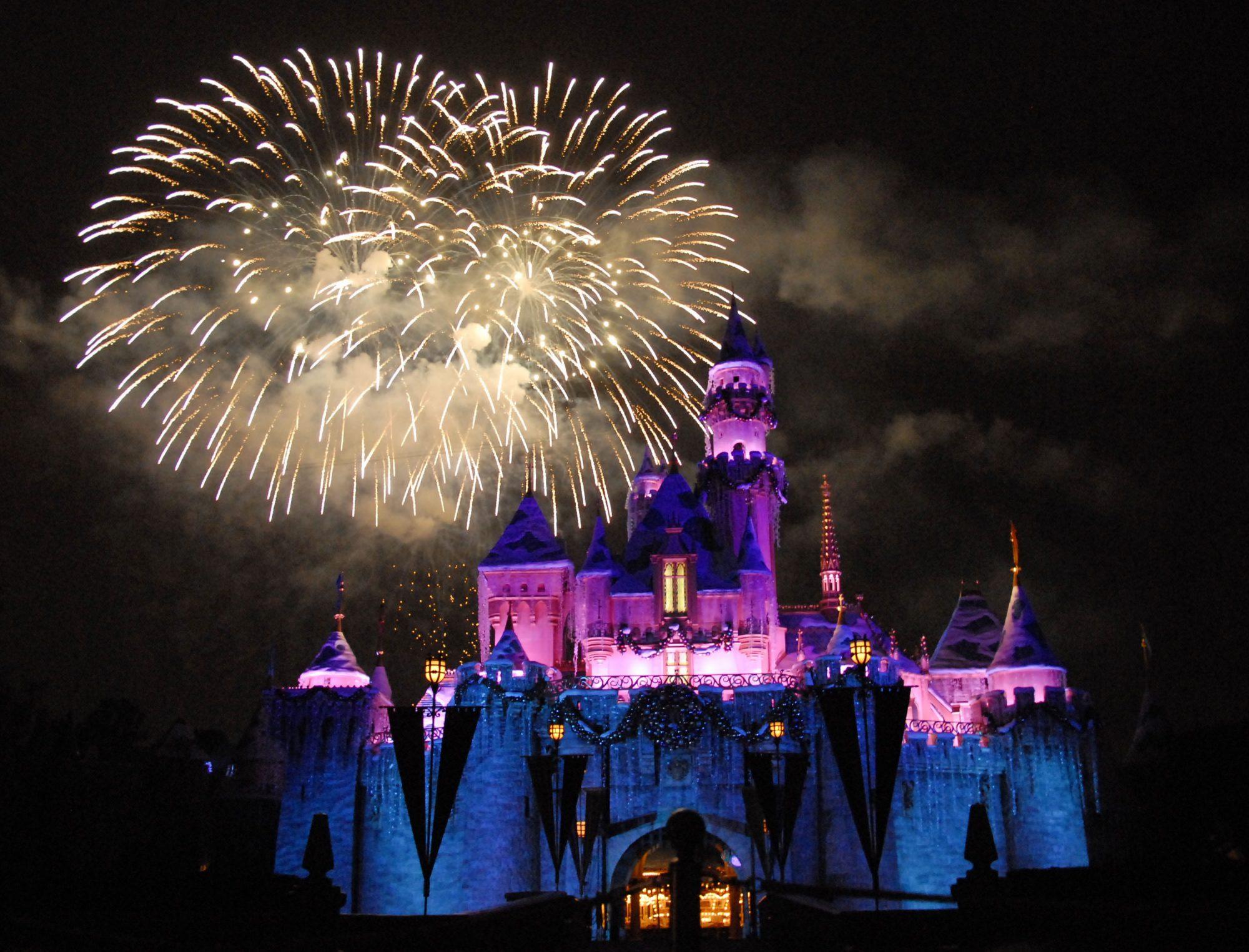 Disneyland Holiday Castle and Fireworks