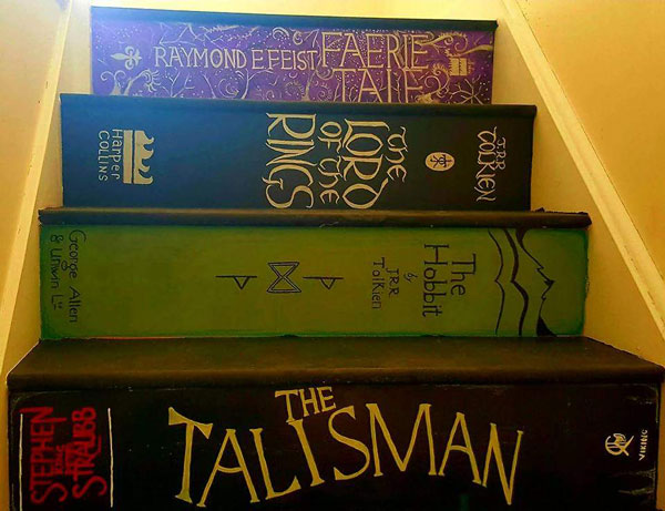 bookcase stairs top
