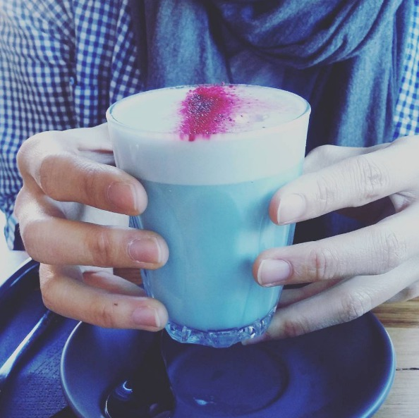 Picture of Blue Smurf Latte