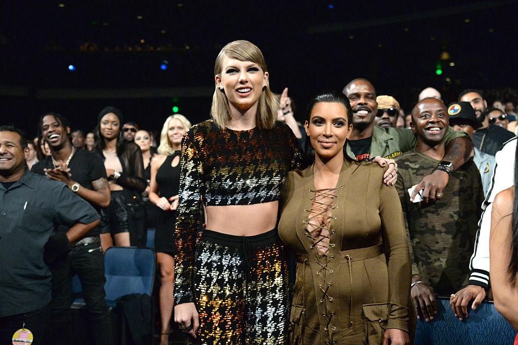 Picture of Taylor Swift Kim Kardashian MTV VMAs