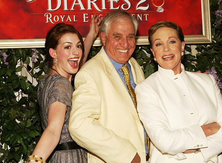 Anne Hathaway, director Garry Marshall  and Julie Andrews