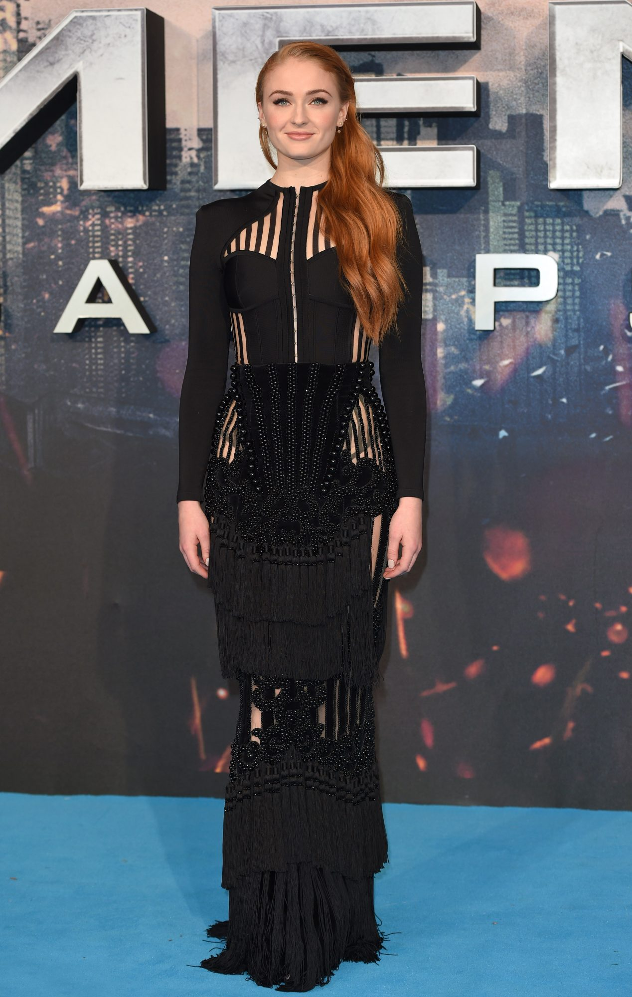 LONDON, ENGLAND - MAY 09:  Sophie Turner attends a Global Fan Screening of