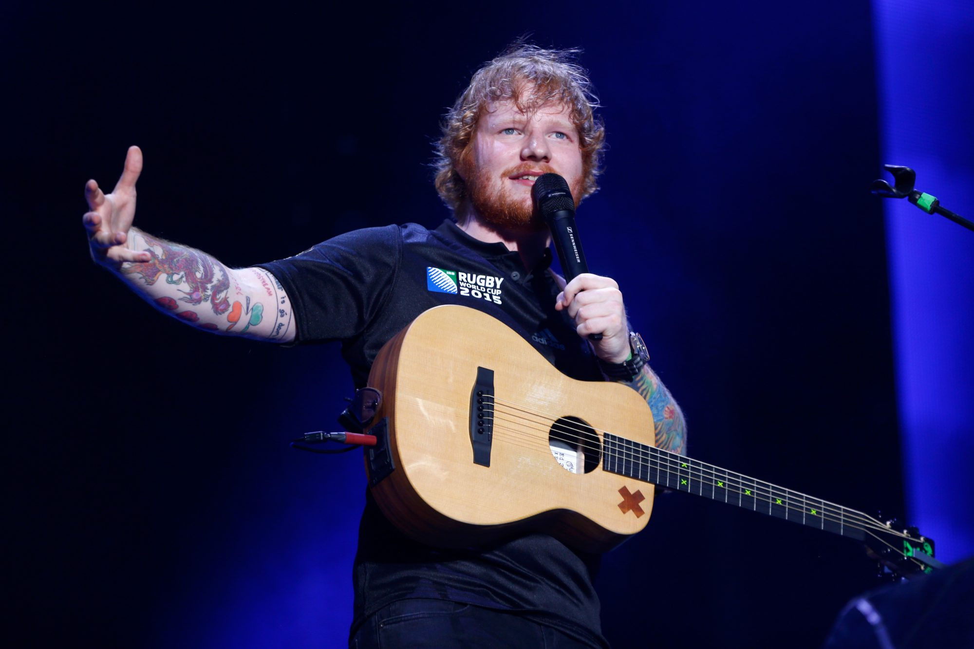 Ed Sheeran Performs In Auckland