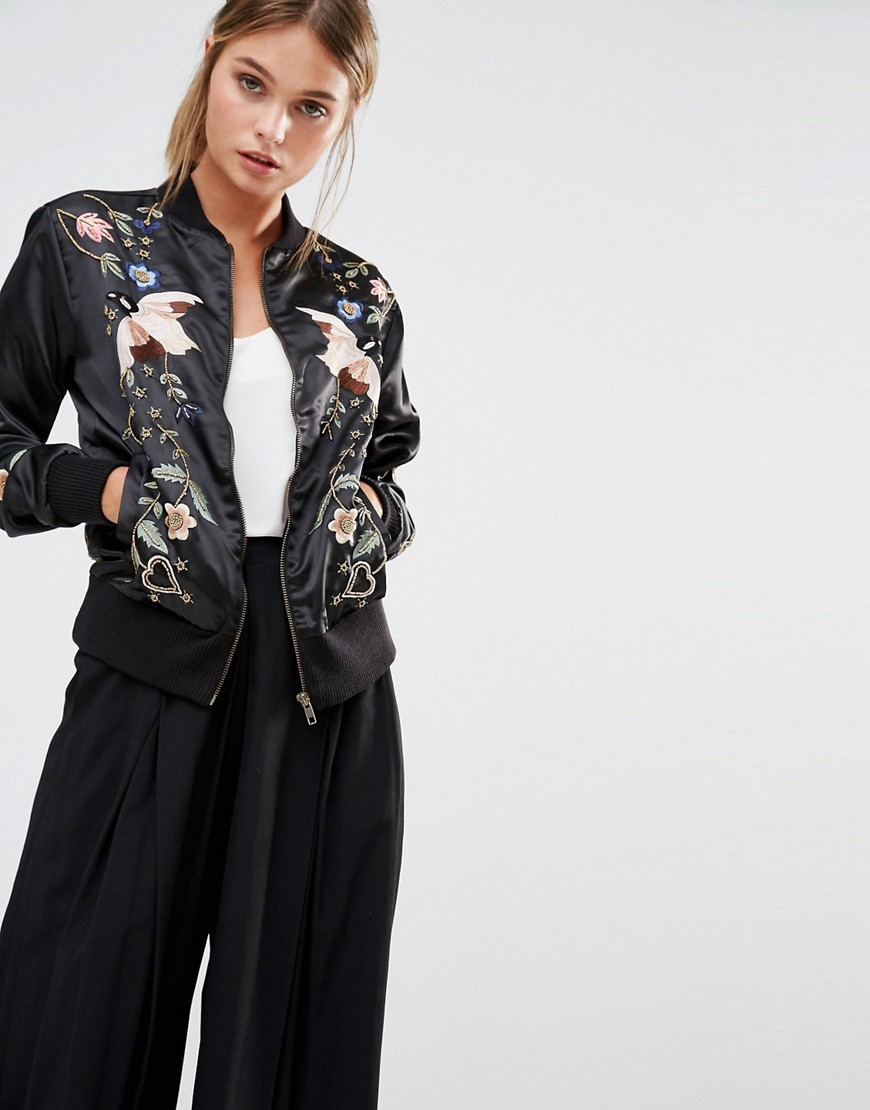 Frock and Frill Embroidered Embellished Bomber Jacket, $187.00, ASOS