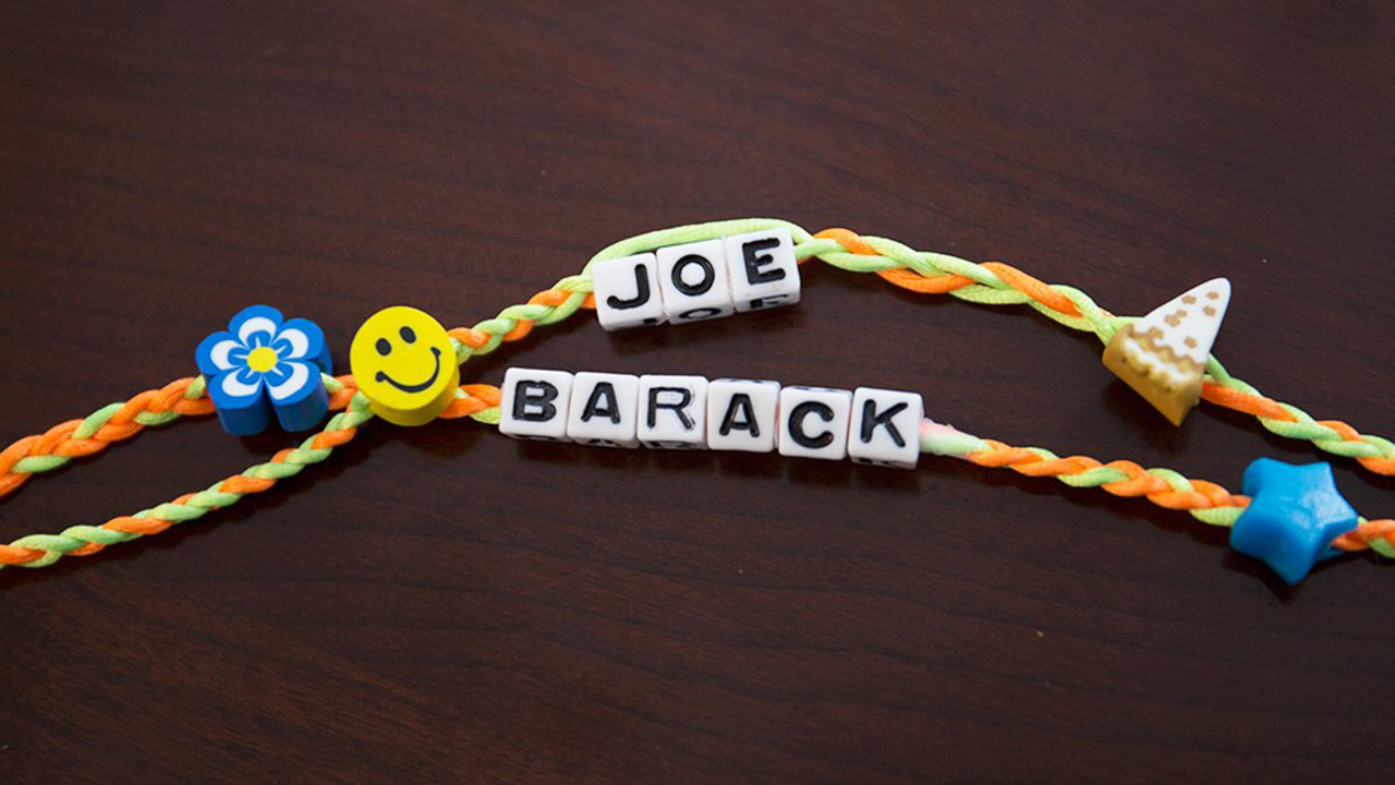 Joe Biden and Barack Obama friendship bracelets