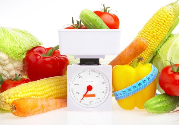 Weighing Vegetables, Healthy Eating