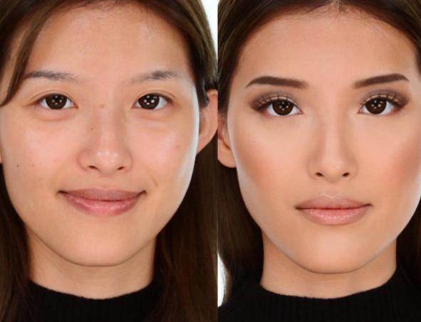 Kim K makeup look