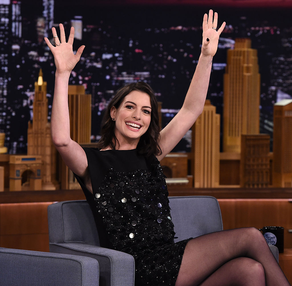 "Anne Hathaway Visits ""The Tonight Show Starring Jimmy Fallon"""