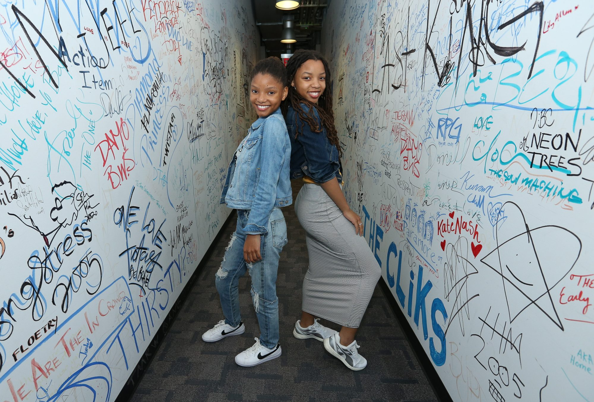 Chloe and Halle Visit Music Choice