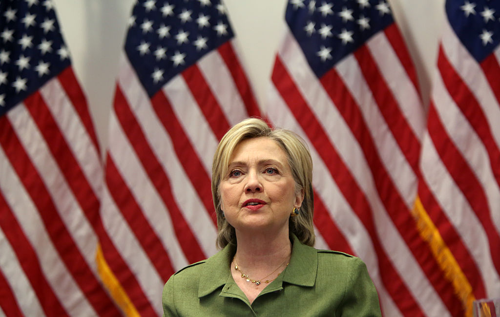 MANHATTAN, NY - AUGUST 18: U.S. Presidential candidate Hillary