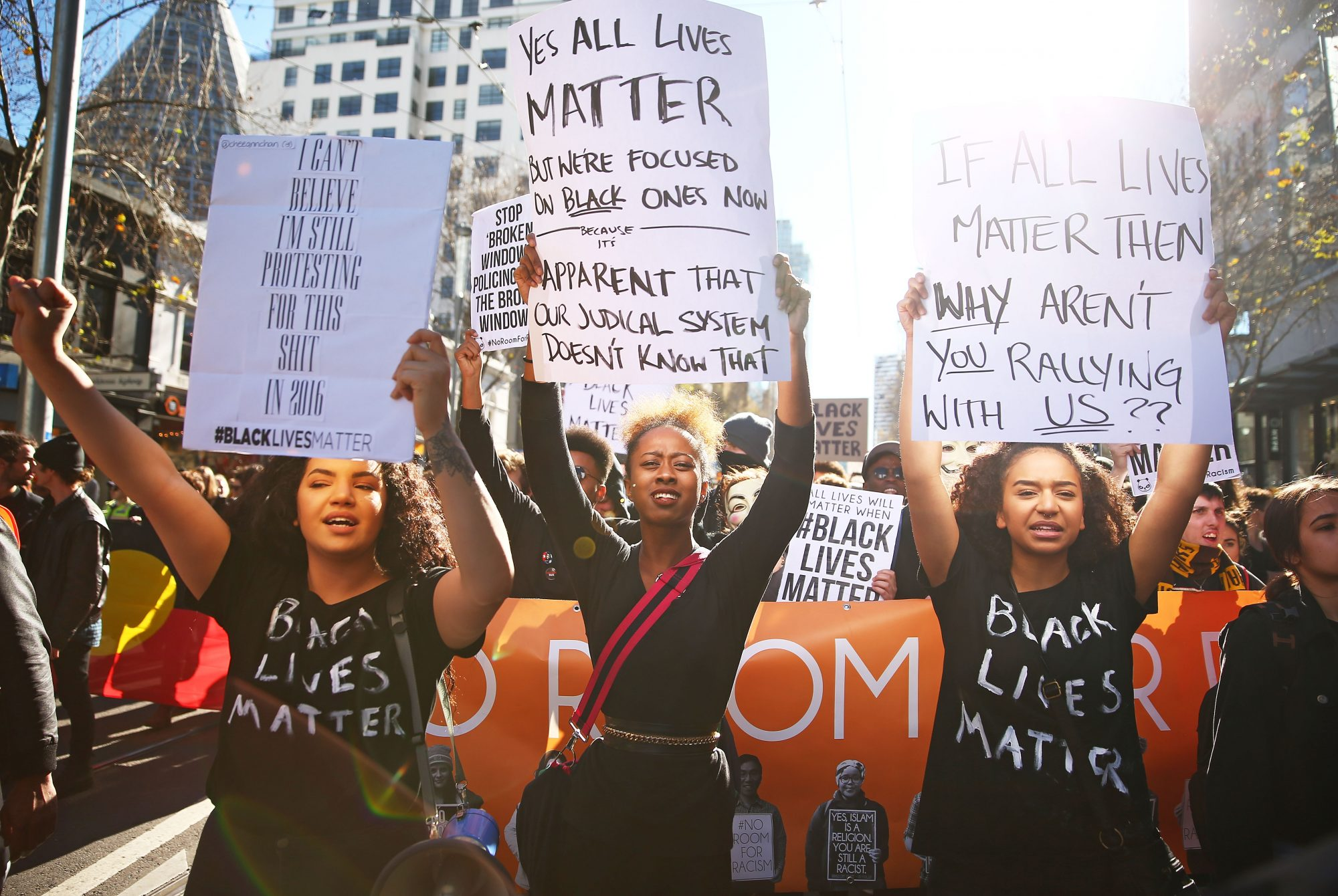 Thousands Gather For Black Lives Matter Rallies Around Australia Following US Shootings