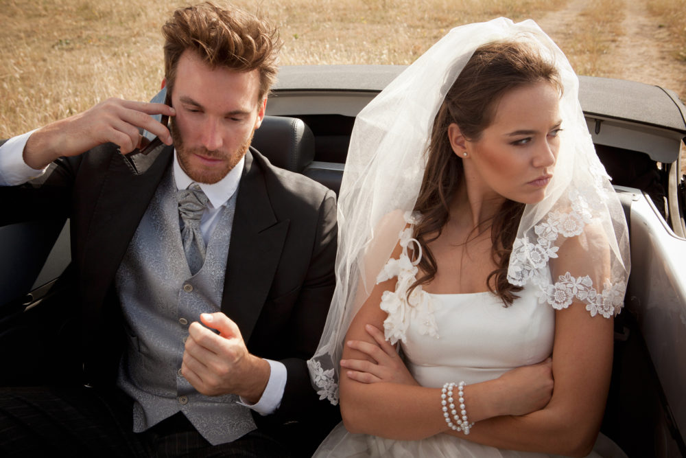 How to tell if your wedding anxiety is more than cold feet.