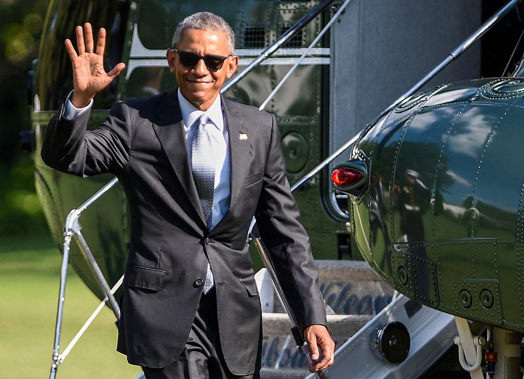 President Obama Arrives At The White House