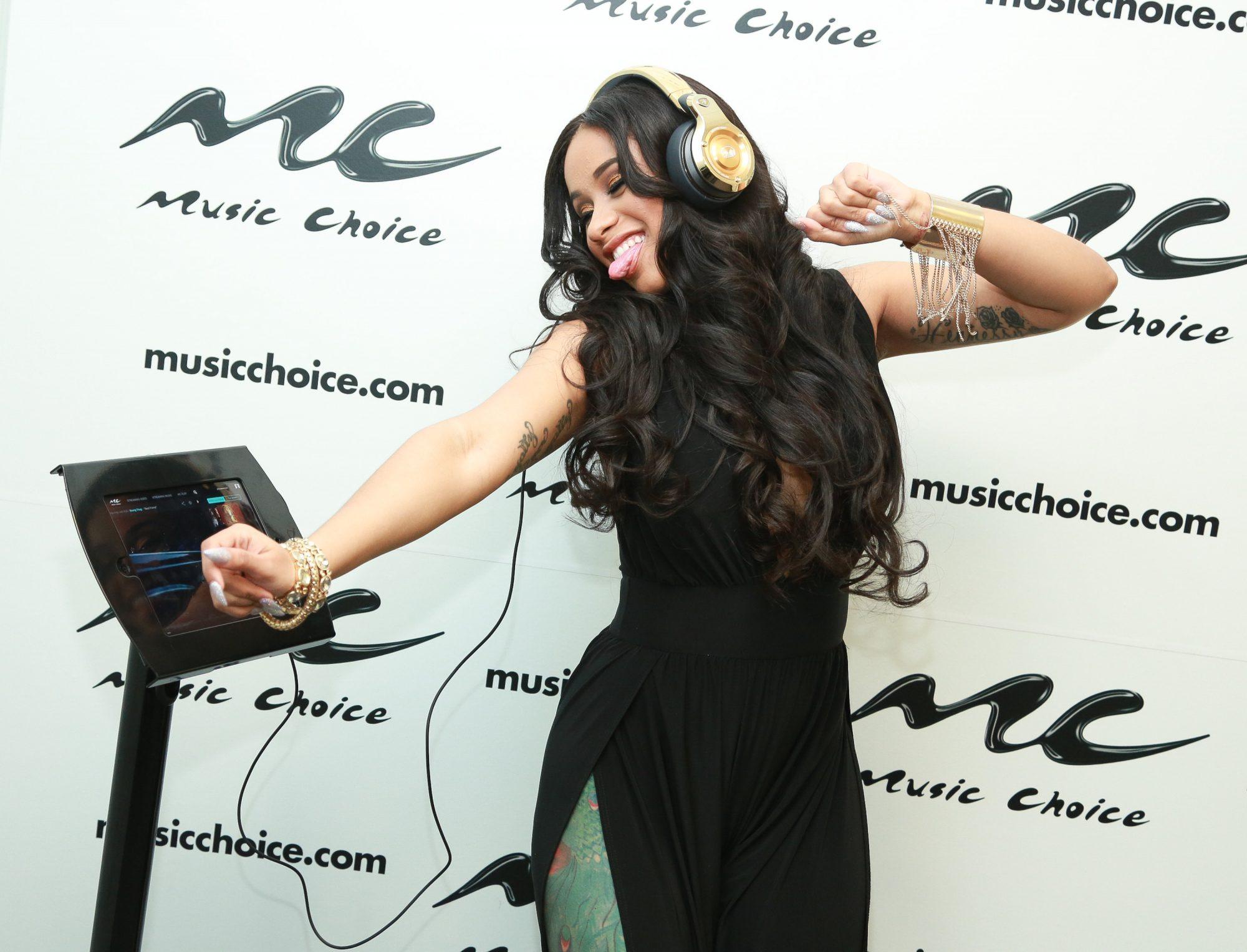 Rapper Cardi B Visits Music Choice