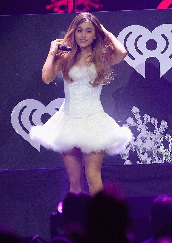 LOS ANGELES, CA - DECEMBER 06:  Singer Ariana Grande performs onstage during KIIS FM's Jingle Ball 2013 at Staples Center on December 6, 2013 in Los Angeles, CA.  (Photo by Jason Merritt/Getty Images for Clear Channel)
