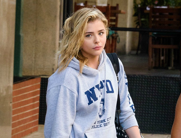 Chloe Grace Moretz sighting in New York City.Non-exclusive.