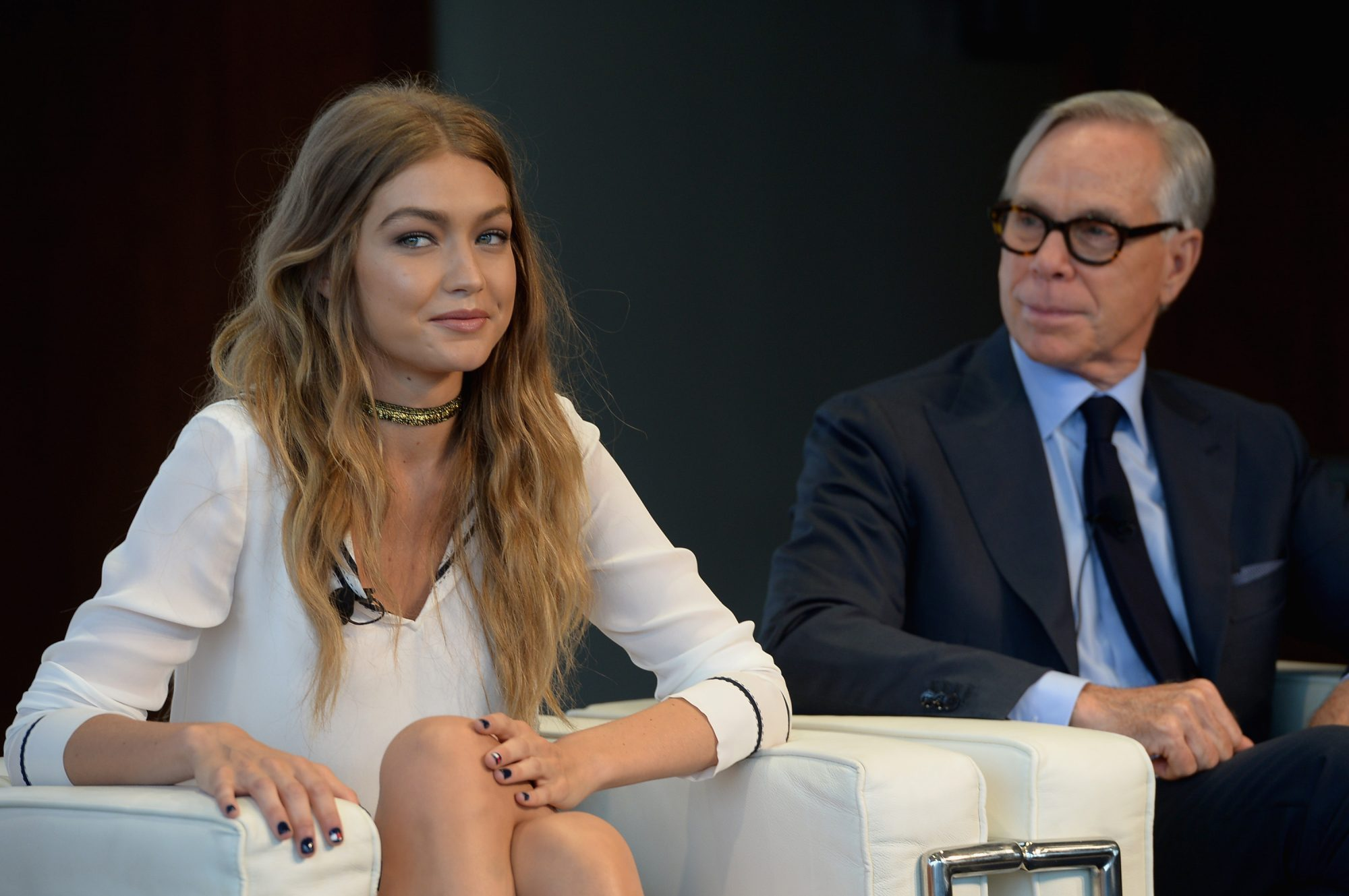 Picture of Gigi Hadid and Tommy Hilfiger