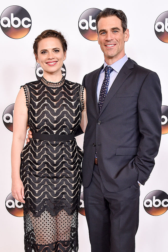 BEVERLY HILLS, CA - AUGUST 04:  Actress Hayley Atwell (L) and actor Eddie Cahill  attend the Disney ABC Television Group TCA Summer Press Tour on August 4, 2016 in Beverly Hills, California.  (Photo by Mike Windle/Getty Images)