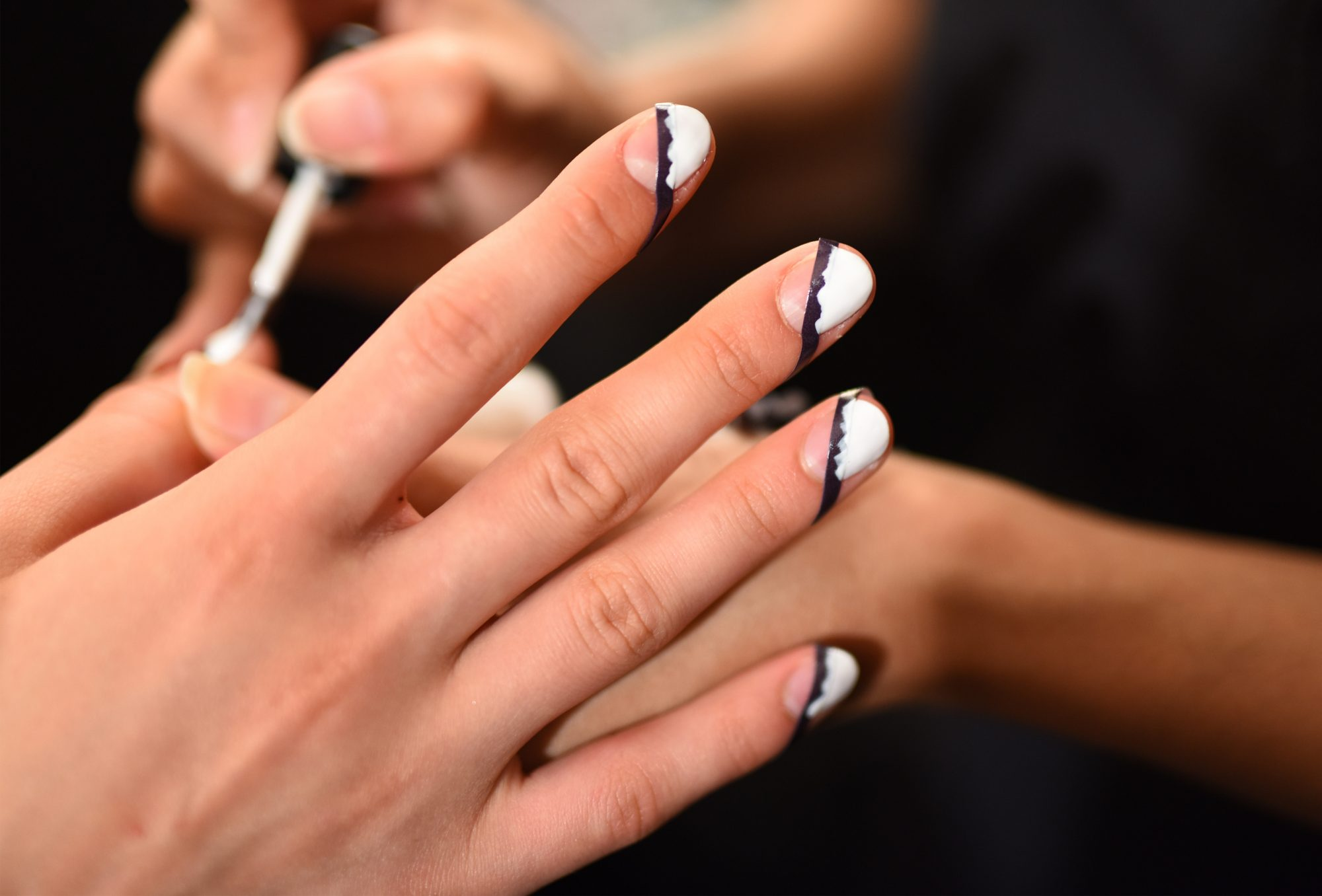 Picture of NYFW Nails Striped
