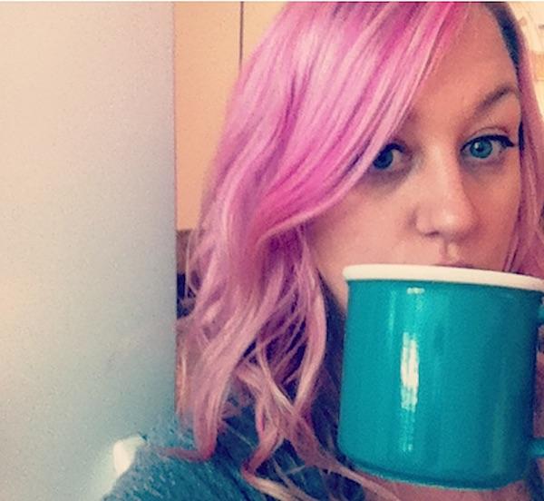 devan pink hair