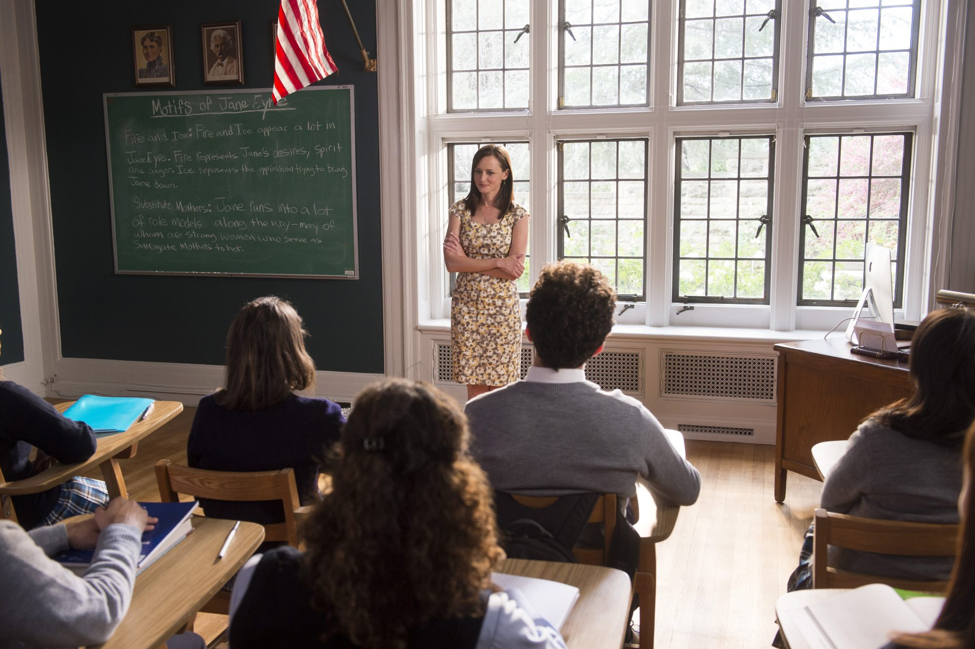 A still from the upcoming revival sees Rory teaching.
