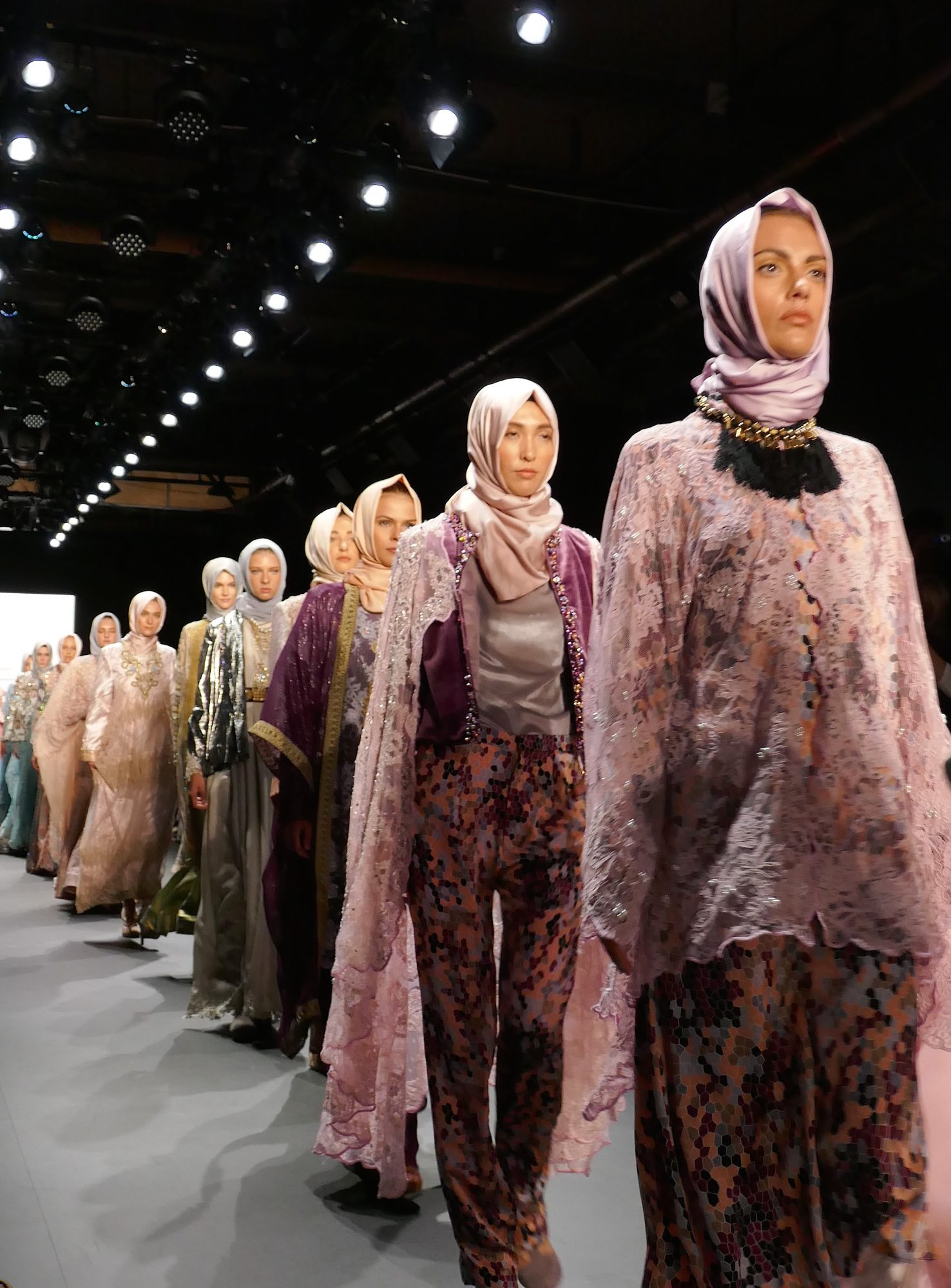 NEW YORK, NY - SEPTEMBER 12 :  Models walk the runway as they present creations by Anniesa Hasibuan                     during New York Fashion Week in New York, United States on September 12, 2016. (Photo by Selcuk Acar/Anadolu Agency/Getty Images)