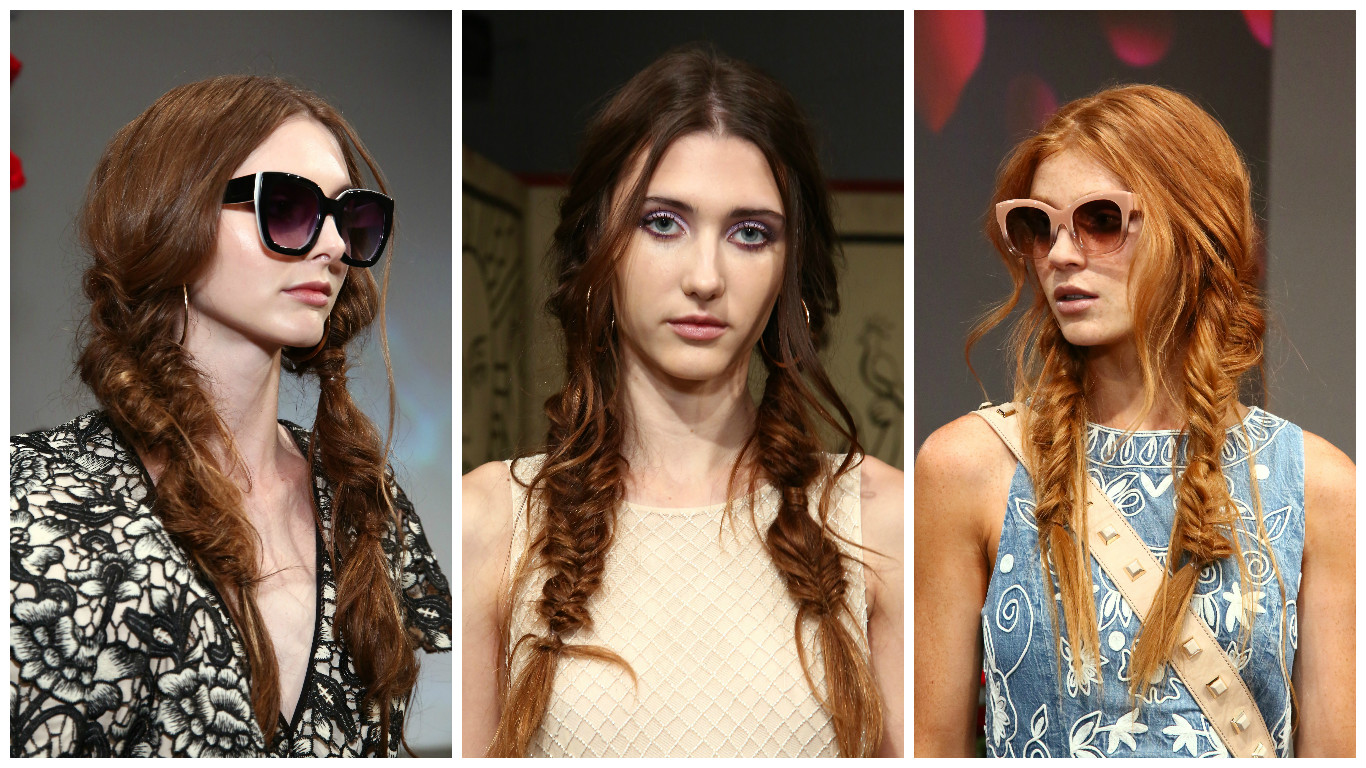 Picture of NYFW Fishtail Braids